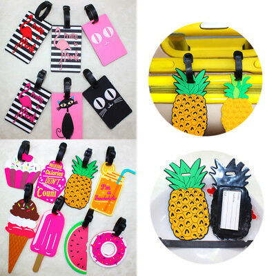 Creative Name Address Label Silicone Cake Pineapple Suitcase Luggage tag