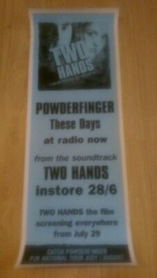 Very Rare - Powderfinger These Days/Two Hands Heath Ledger Launch Pole Poster
