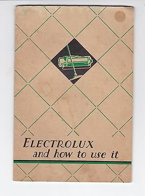 ELECTROLUX VACUUM CLEANER MODEL X11 1930s Instruction Booklet MELBOURNE Au