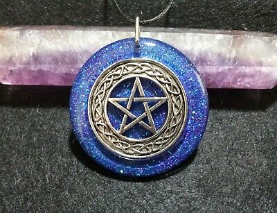 Pentacle Pendant,spiritual,pagan,wiccan jewelry,witchcraft,holographic,symbolism