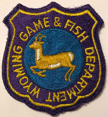 Wyoming WY Game & Fish Department Warden Park Ranger Police Sheriff Patch