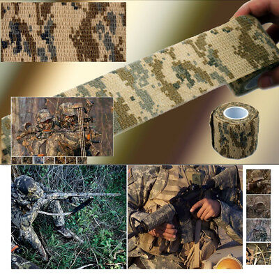 5Pcs Outdoor Hunting Camo Stealth FPM Self-adhesive Non-Woven Camouflage Tape