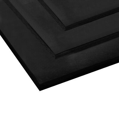 Rubber Sheet Solid Rubber Sheeting BLACK VARIOUS THICKNESS & SIZES