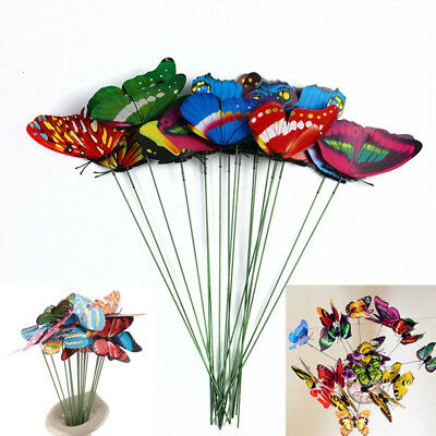 10 Pcs Butterfly Yard Metal Decor Garden Outdoor Home Lawn Patio Art Ornaments