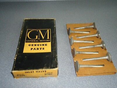 New NOS OEM GM Engine Intake Valve 1a 3774052 Box of (8) 1955-1969 Chevy 283 327