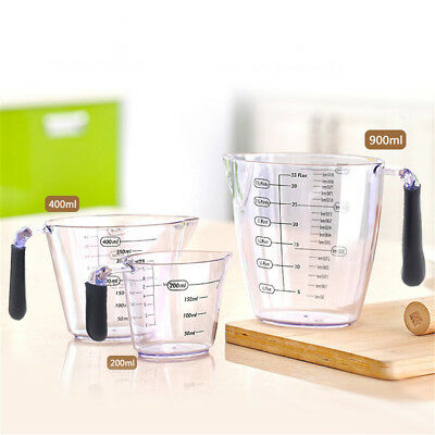 Baking Measuring Cup Plastic Graduated Measuring Cup with Silicone Handle