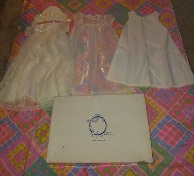 Vintage Madonna Baby Embroidery Lace Baptism Christening Outfit Gown Evansville