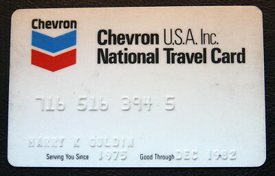 Chevron National Credit and Travel Card 1982 Vintage