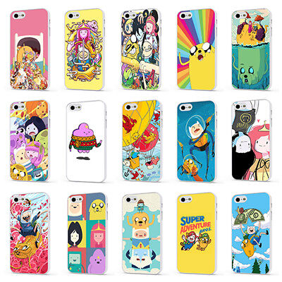 ADVENTURE TIME CARTOON JAKE FIN WHITE PHONE CASE COVER for iPHONE 4 5 6 7 8 X