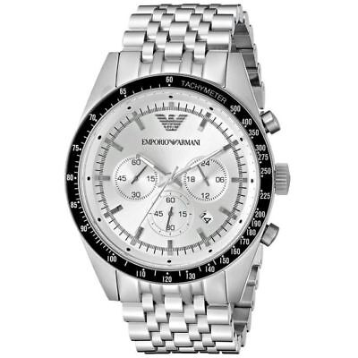 Emporio Armani AR6073 Sportivo Chronograph Silver Stainless Steel Men's Watch
