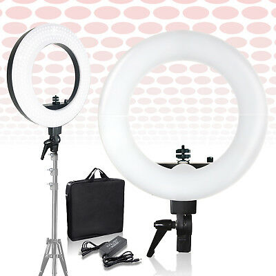 """Lusana Studio 18"""" Photo Video Shooting Dimmable Photography Ring Light Lamp"""