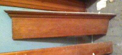 "Wood Header Architectural Pediment Entryway Over Head Door Mantle 38"" 45331 Ohio"