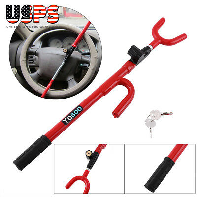 New Steering Wheel Lock Anti Theft Security System Car Truck SUV Auto Red