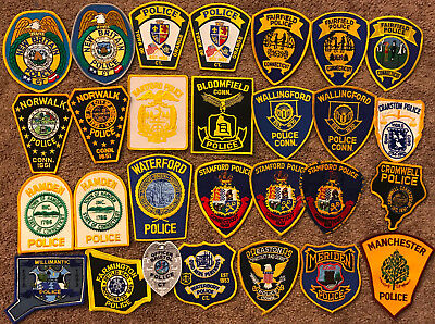 Connecticut CT State Police Sheriff - 28 Patch Lot Collection