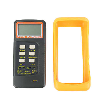 Self-calibrating Thermocouple Thermometer 6802 II with Large LCD display D1R