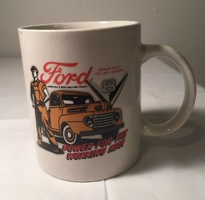 Ford Truck Coffee Mug Cup V8 Power For The Working Man