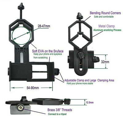 Universal Mobile Smart Cellphone Telescope Adapter Spotting Scope Mount