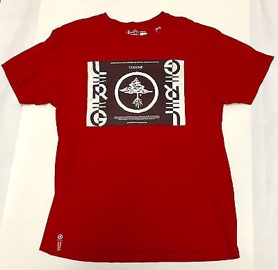 87236a2faa8eb Lifted Research Group LRG Clothing Men s T-Shirt Size Medium Red EUC Slim  Fit