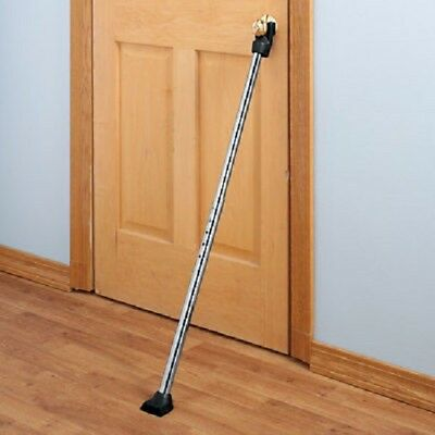 Adjustable Door Security Bar Home Barricade Strong Portable Safety Apartment