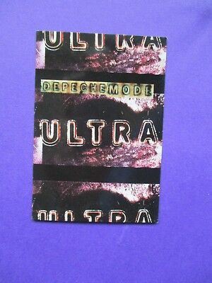Depeche Mode Ultra ORIGINAL 1997 UK TWO SIDED PROMO CARD Mute