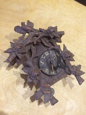 Black Forest Cuckoo Type Clock.Smallest That I've Ever Seen. With Key over wound