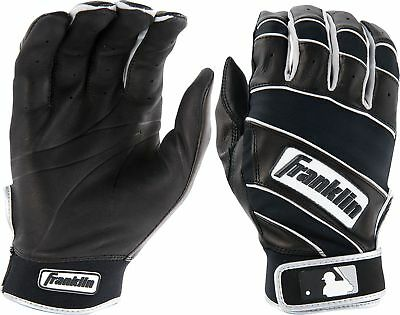 FRANKLIN Youth The Natural II Baseball Batting Gloves sz S Small Black White MLB