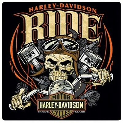 "Harley Davidson ""Ride Bone"" 14.5 Inch Square Tin Sign ~ New ~ 100% Authentic"