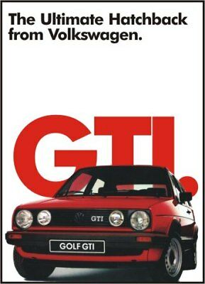 VW Ultimate GOLF GTi Advertising Poster NEW Volkswagen Mk2 II 16v 8v print A3