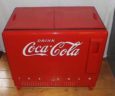 Vintage 1940s Coca Cola Chest Style Cooler w/Double Lids - Beautifully Restored!