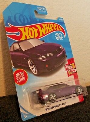 2018 Hot Wheels #193/365- Purple Nissan Skyline GT-R R33 PR5 Wheels