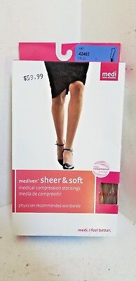"Mediven ""sheer & Soft "" ( 42402 ) Closed Toe - Natural - Compression Stockings"