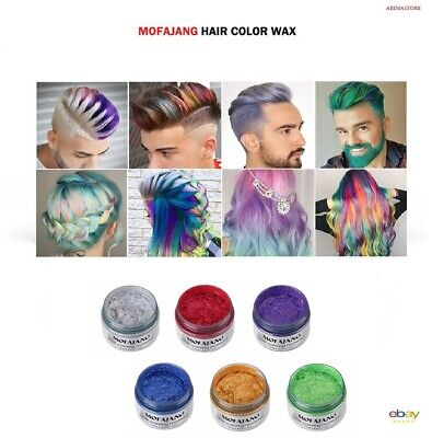 Hair Color Wax/ Cream Temporary / Unisex 8 Colors/ Free Shipping In Usa