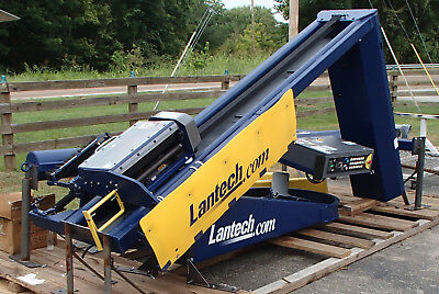 Lantech S-300 Straddle-Type Semi Automatic Stretch Wrapper Very Nice Condition