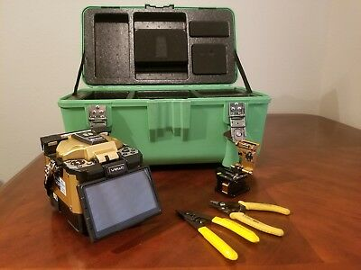Inno view 5 Fiber Optic Fusion Splicer with V7 Fiber Cleaver and Clause Stripper