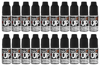20 x 10ml Vampire Vape Nic It Up Nikotin Shot 18mg/ml 80VG/20PG Shake and Vape