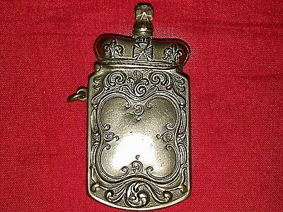 Antique Rare Victorian Figural Silver Plated Crown Vesta Match Holder 1902