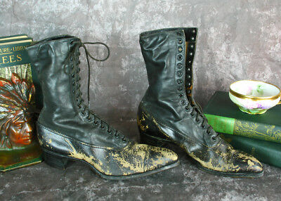 Knotts Berry Farm Auction Shoe Lot Antique Womens Lace Up Boots Vintage 1900s