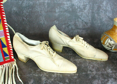 Knotts Berry Farm Auction Shoe Lot Vintage Edwardian Womens White Canvas Shoes