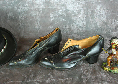 Knotts Berry Farm Auction Shoe Lot Vintage Womens Edwardian Oxford Tie Shoes