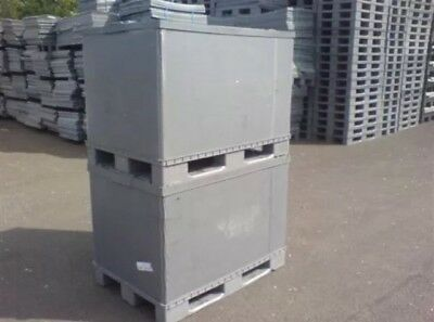 One PLASTIC STORAGE PALLET BOX CONTAINER (970H) 500KG CAPACITY - GRADE A