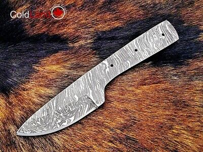 7'' Handmade Damascus steel Full Tang Blank Blade Knife Making Supplies RB0