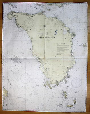 1940 Philippine Islands - Mindoro and Vicinity Asia Busuanga Asien map
