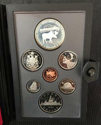1985 Canada Double Dollar Proof Set in w/ 100th Anniversary National Park Dollar