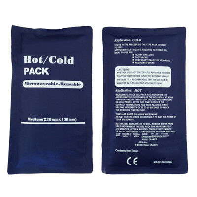 Reusable Cold Hot Therapy Gel Pad Ice Pack Back Pain Relief Sport Compress