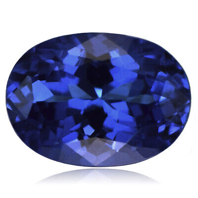 0.99 CT Oval Cut 100% Natural Tanzanite Deluxe Violet Blue AAAAA Color VVS1