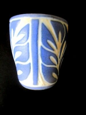 Pablo Zabal Chilean Blue & White Egg Cup Folk Art Handcrafted & Signed