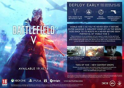 Battlefield V Beta Early Access - Enlister Offer [PS4/XBOX ONE/PC]