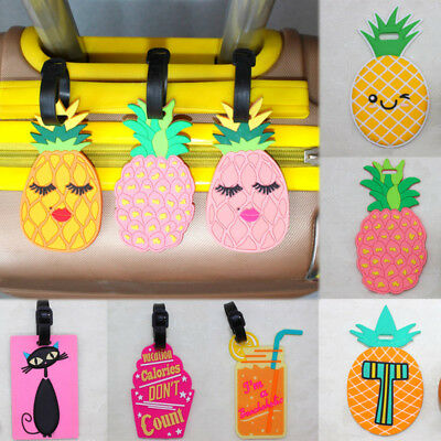 Cute Silicone Pineapple Suitcase Name Address Label ID Tag Luggage tag Travel