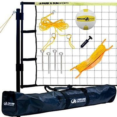 Net Systems Tournament Flex: Portable Outdoor Volleyball System, Yellow
