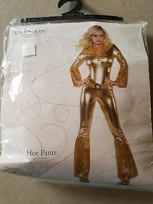 C NEW Adult Underwraps Gold Hot Pants Halloween Costume Size S